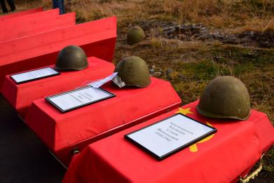 В «Долине Славы» захоронили останки обнаруженных воинов времен Отечественной войны