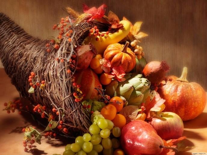 фрукты рог изобилия для свадьбы фото нежное